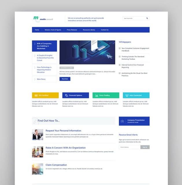 Media Consult - Business WordPress Theme