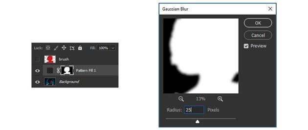 Mask Gaussian Blur