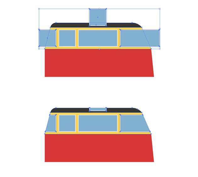 Cutting of the outstanding window parts with Shape Builder