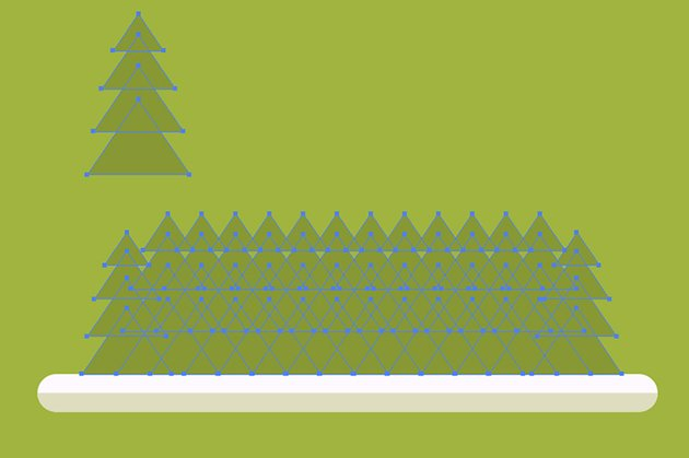 Rendering the fir and the forest background