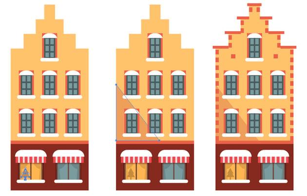 Adding second window a shadow and decorative bricks