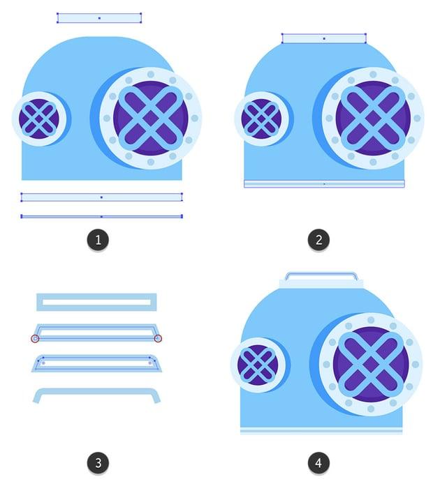 Adding smaller details to the helmet