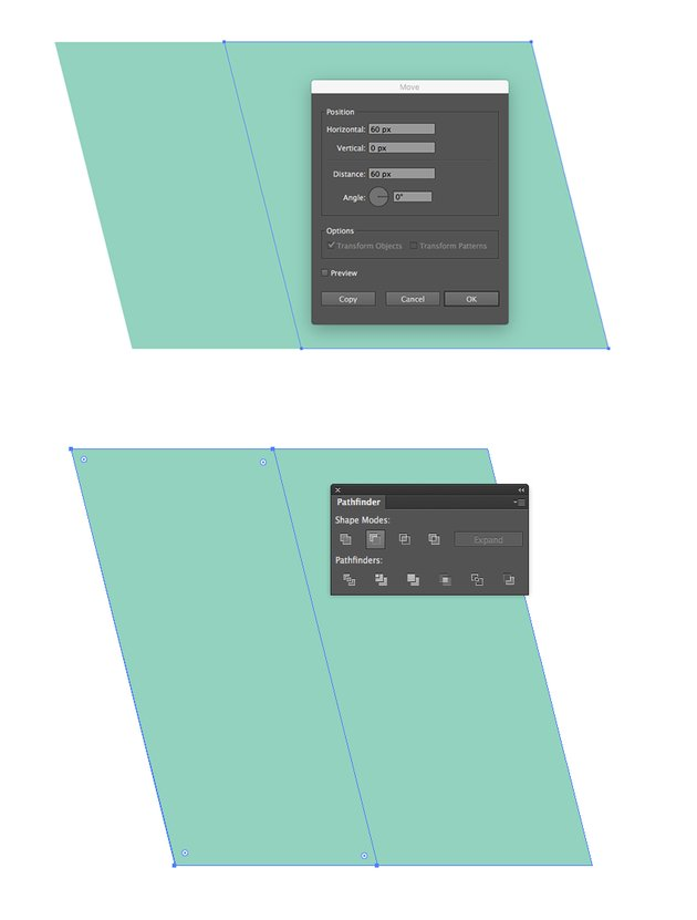 Copying the Rectangle and Using the Minus Front Option