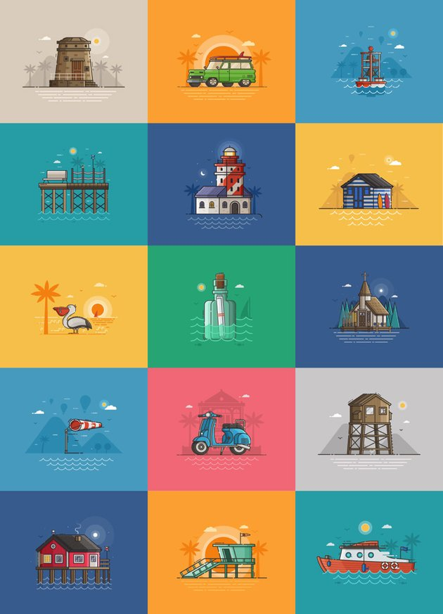 Summer Seaside Collection on Graphicriver