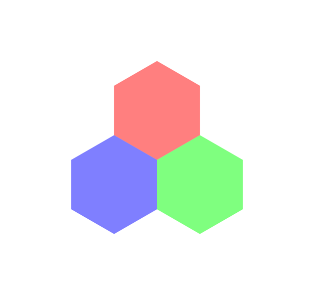 All three polygons after completion