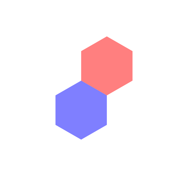Duplicate the blue polygon