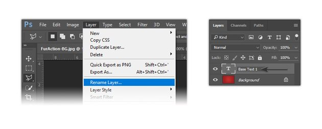 How to rename the layer