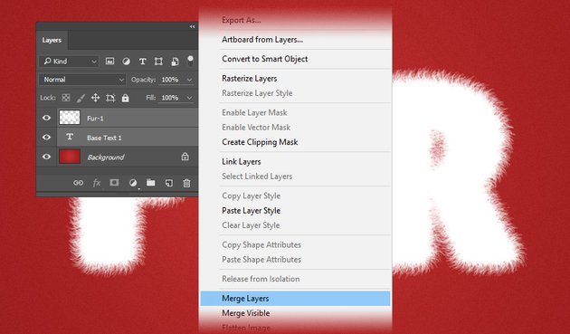 How to merge the layers