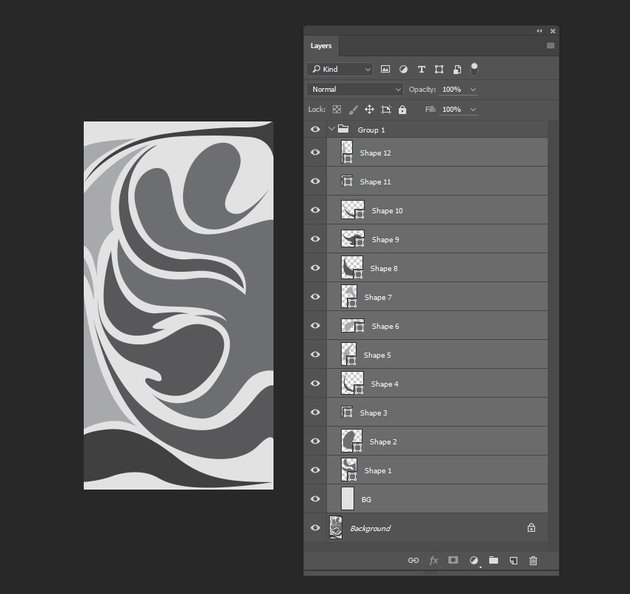 Selecting all layers and grouping them