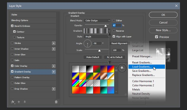 Installing the gradient file