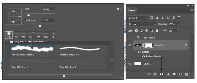 Creating the vector mask and selecting the brush