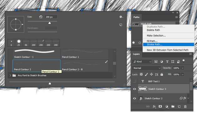 Adding another stroke and converting the layer to Smart Object
