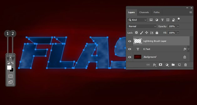 Creating a new layer and setting up the colors