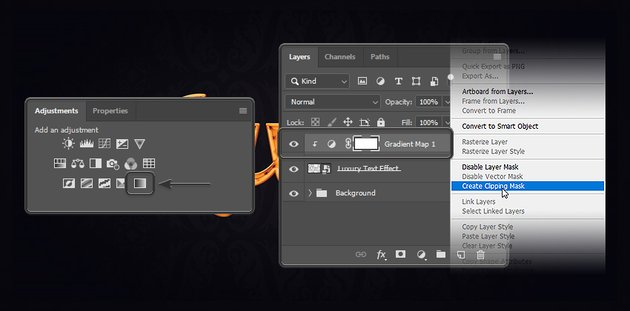 Creating a gradient map layer