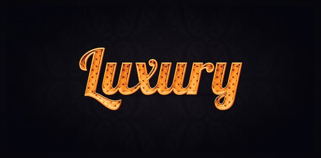 Luxury text effect final result
