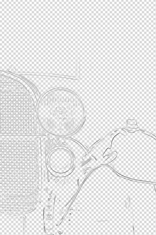 Contour Lines layer with a transparent background