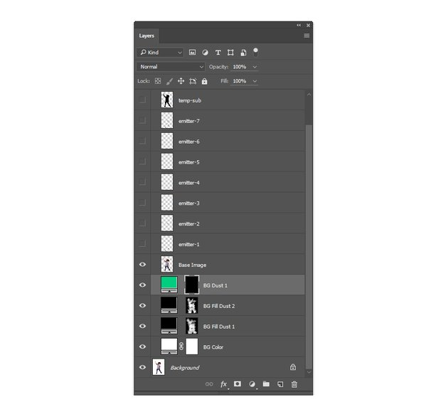 Select the layer mask of the BG Dust 1 layer