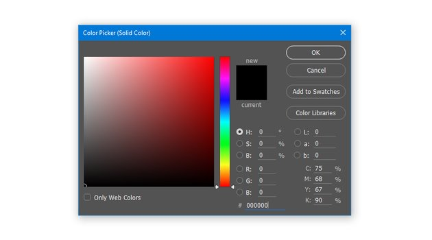 Create a Solid Color Fill layer with hex color code 000000