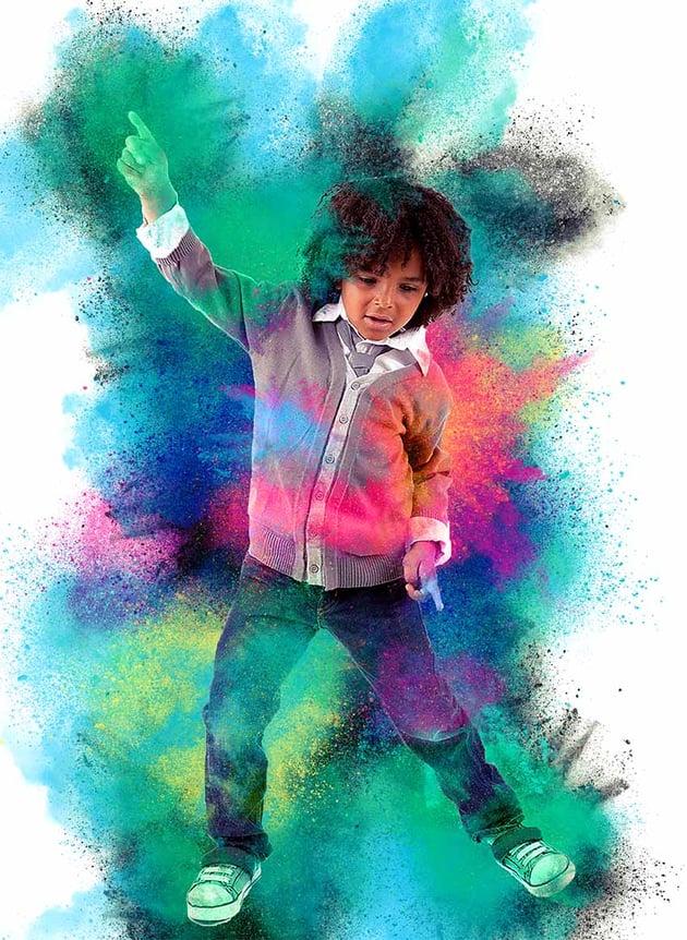 Color Dust Photoshop Action Tutorial