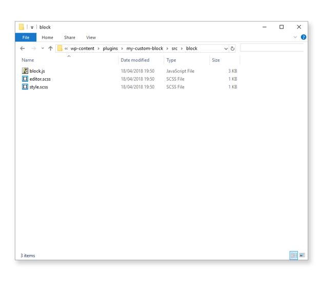 Block source code files