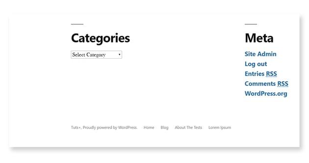 Footer menu outputs flat list of menu items