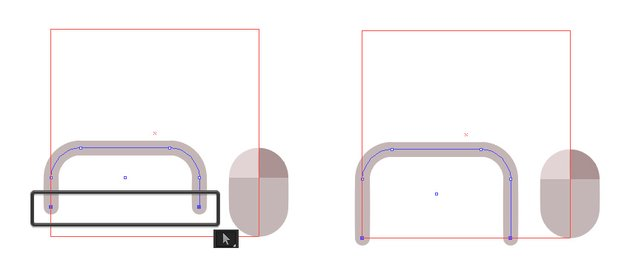 Pull bottom anchors to the rectangle guide