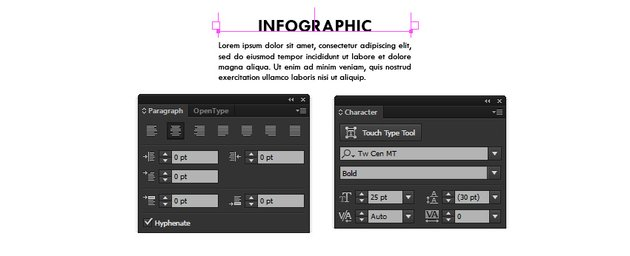 Character and Paragraph Panels
