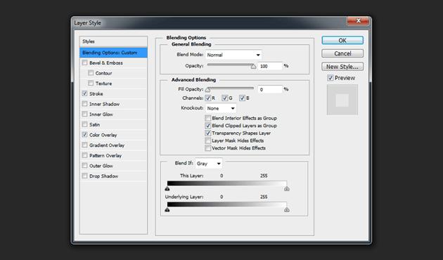 Layer 3 - Blending Options