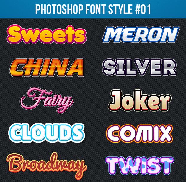 Photoshop Text Styles 01