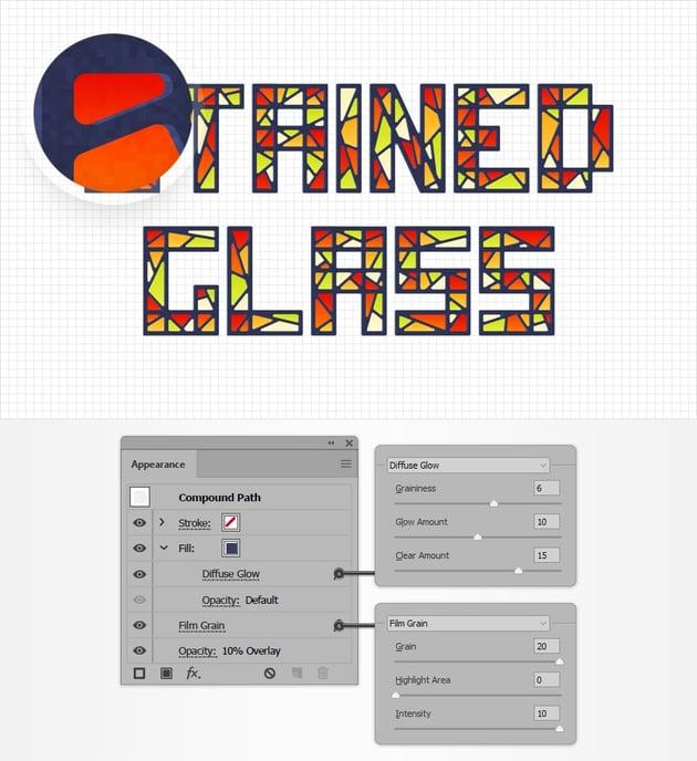 text design texture