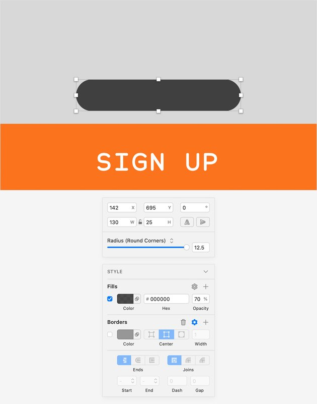 sketch design rounded rectangle