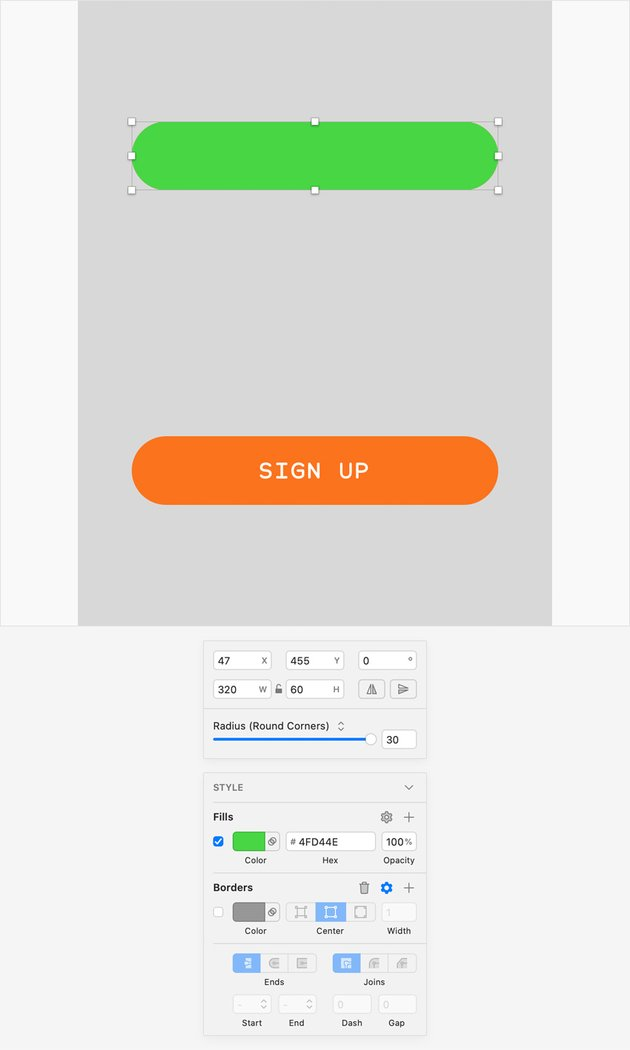 sketch UI design create symbol