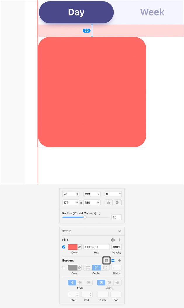 red rounded rectangle