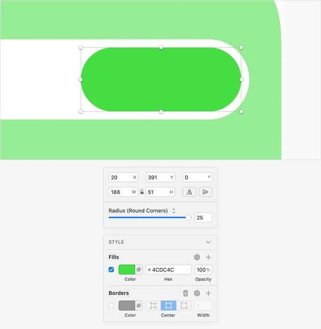 rounded rectangle green