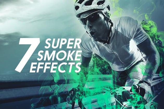 7 Smoke Photoshop Action Pack
