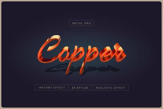 3D text effect illustrator