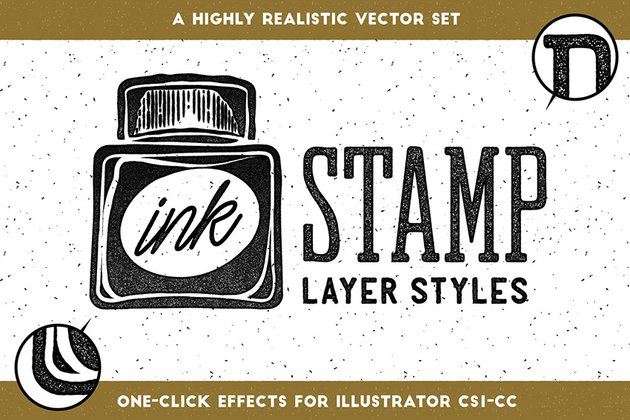 ink stamp adobe illustrator text effects