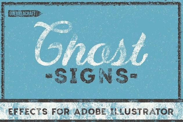 grungy retro text effect illustrator