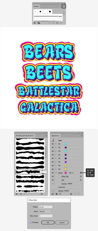 graffity text effect
