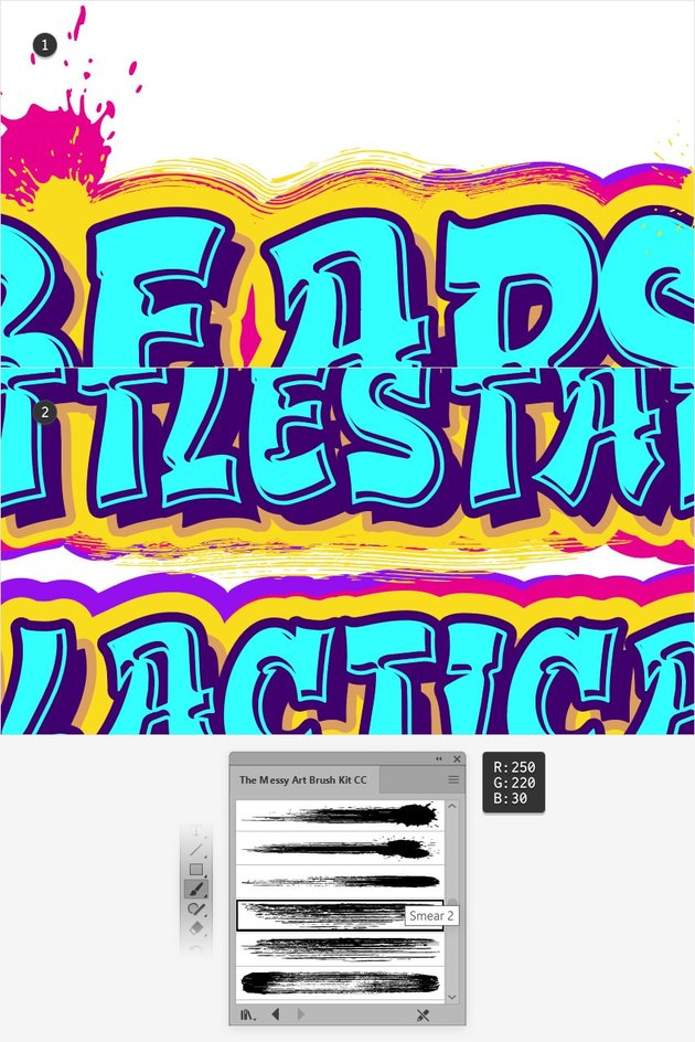 graffiti smear brush illustrator