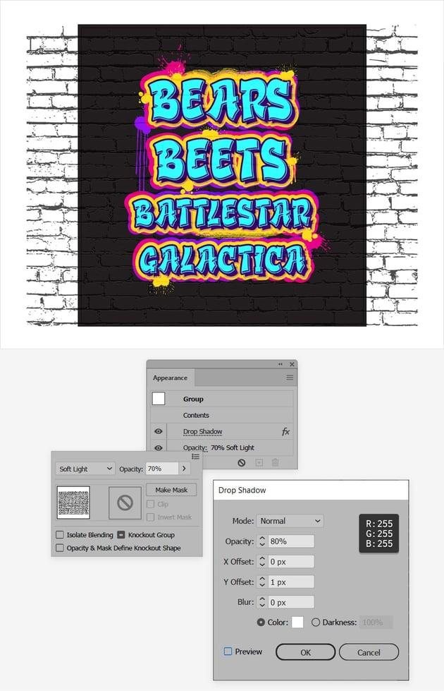 graffiti text effect overlay
