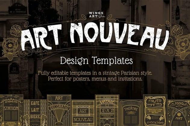 Art Nouveau Poster Templates