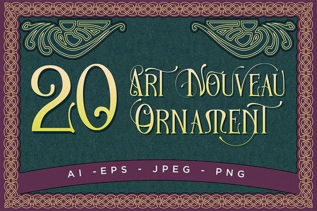 20 Art Nouveau Ornament