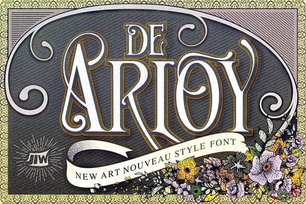Art Nouveau Font Styles