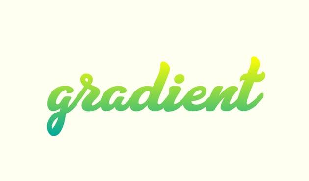 gradient text illustrator