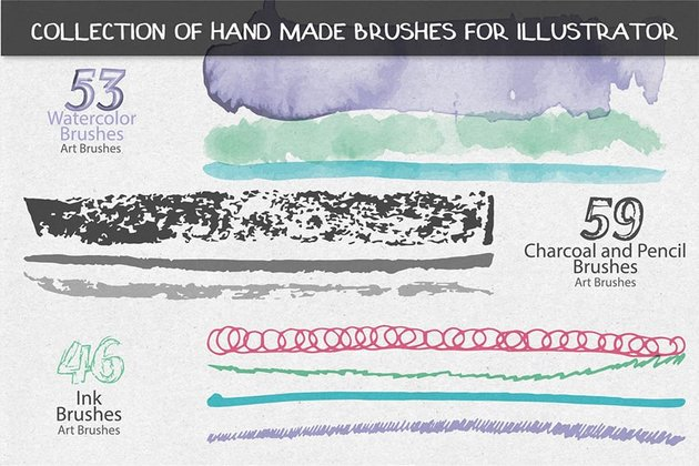 Collection of Hand Made Illustrator Brushes