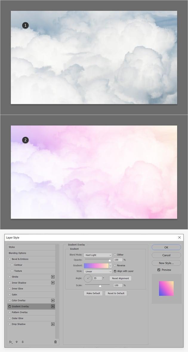 photo gradient overlay