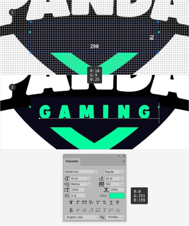gaming emblem text