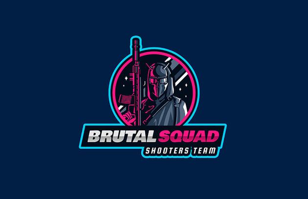 Brutal Squad Gaming Emblem Design