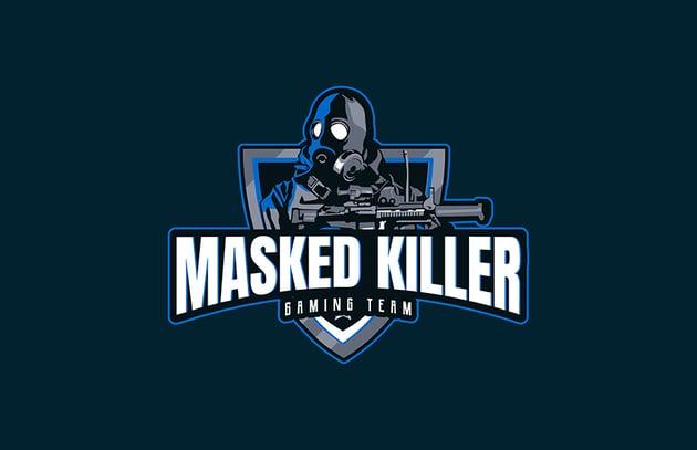 Masked Killer Gaming Emblem Design